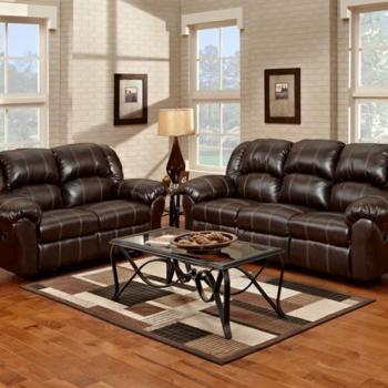 Sofa and Loveseat, Brandon Leather Reclining