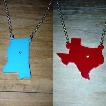State Necklace, Acrylic