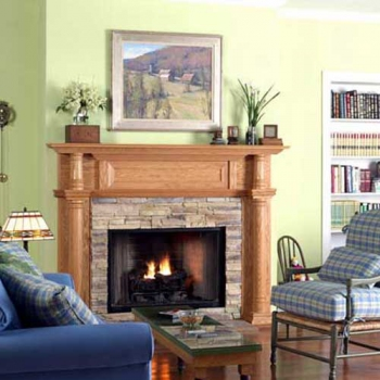 Charleston Fireplace Mantel and Surround
