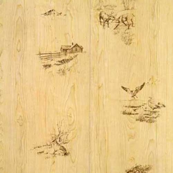 Duck and Deer Rustic Paneling
