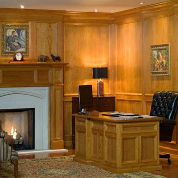 Executive Cherry Wood Wall Paneling