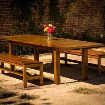 Farm Table, Custom with Benches