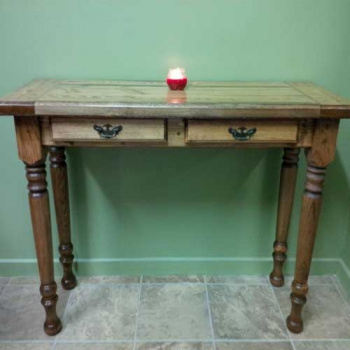 Hall Table with Turned Legs