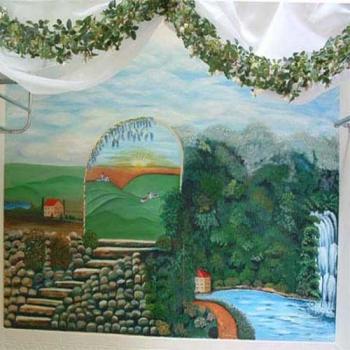 Italy Bath Tub Mural