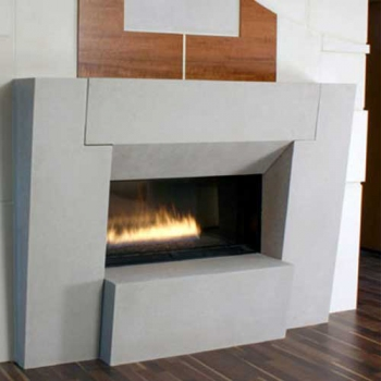Loft Contemporary Stone Mantel Surround