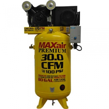 MaxAir 7.5hp Upright Air Compressor with Mag Starter
