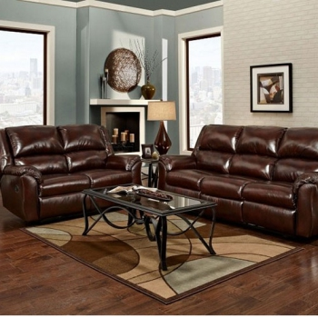 Sofa and Loveseat, Mesa Chestnut