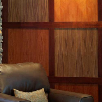 Modern Mahogany Maple Walnut Cherry Rosewood and Zebra Wood Wall Paneling