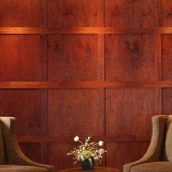 Modern Mahogany Wood Wall Paneling