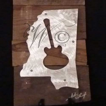 Mississippi Music Metal & Reclaimed Wood Art