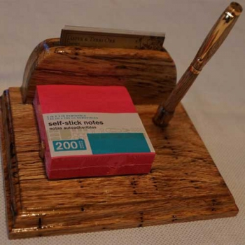 Note Pad and Business Card Holder