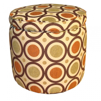 San Francisco Tangerine Footstool
