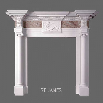 St. James English Marble Mantel