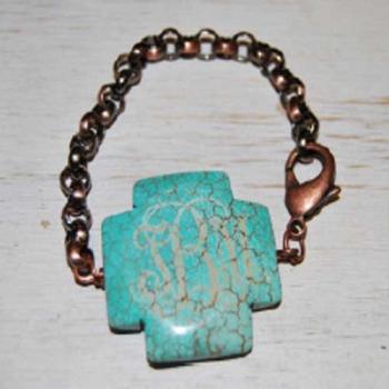 Turquoise Bracelet Cross