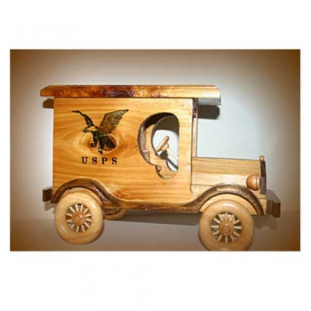 USPS Truck, Western Cedar with Eagle