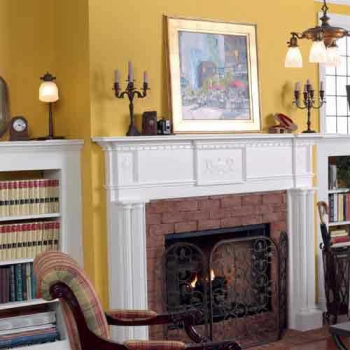 Victorian Fireplace Mantel and Surround