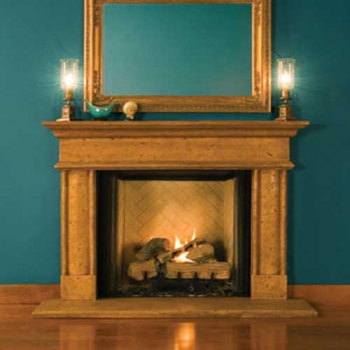 Villanova Carved Stone Mantel Surround