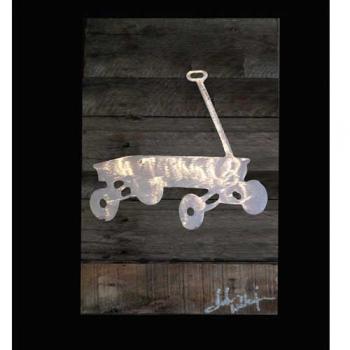 Wagon Metal & Reclaimed Wood Art