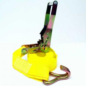 Ratchet Tie Down Strap, 15 ft. Yellow