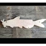Catfish Metal & Reclaimed Wood Art