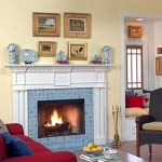 Colonial Fireplace Mantel and Surround