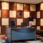 Contemporary Maple and Mahogany Wood Wall Paneling