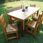 Custom Dining Table with Chairs and Bench