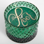 Evergreen Frost Cheer Diamond Cut Bowl