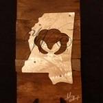 Mississippi Cotton Metal & Reclaimed Wood Art