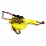 Ratchet Tie Down Strap with Wire-Formed Hook, 27 ft., WLL 1500 lbs.