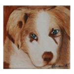 Umber Oil Canvas Portrait