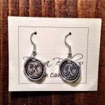 Wax Seal Initial Earrings